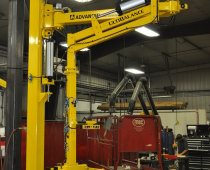 UltiBalance Pneumatic Manipulator - Lifting 220 lb. Brick Veneer Crucibles