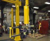 UltiRail Jib Pneumatic Manipulator on Portable Base - Lifts 500 lb. Metal Sheets