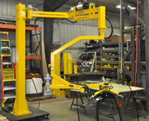 UltiBalance Pneumatic Manipulator - Vacuum Powered End-Effector Lifting, Rotating 100 lb. Windshield