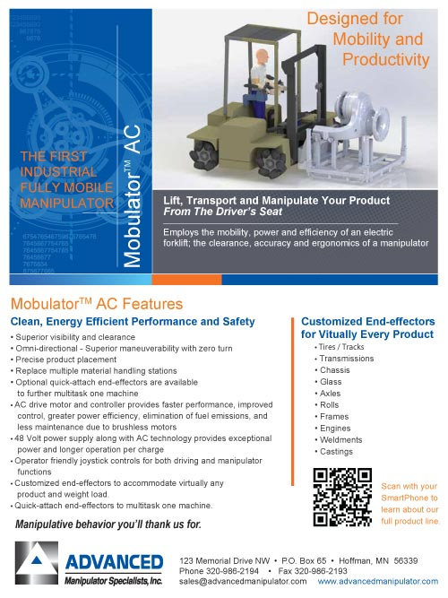 Preview of the Mobulator AC Brochure from Advanced Manipulator Specialists, Inc.