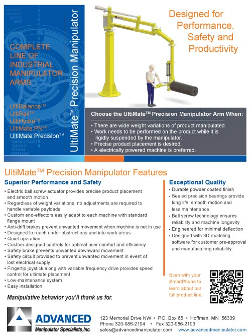 Preview of the UltiMate Precision Brochure from Advanced Manipulator Specialists, Inc.